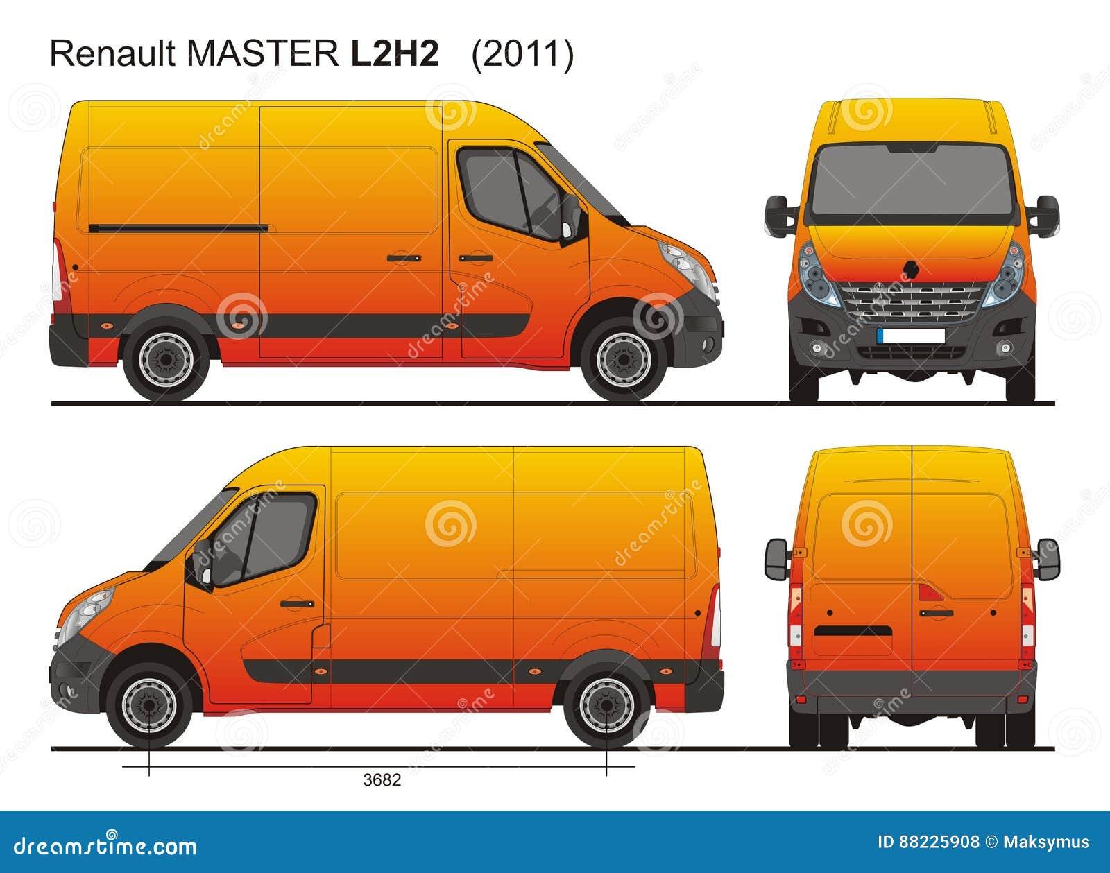renault master van l2h2 2011 foto de stock editorial ilustra o de mestre carga 88225908. Black Bedroom Furniture Sets. Home Design Ideas
