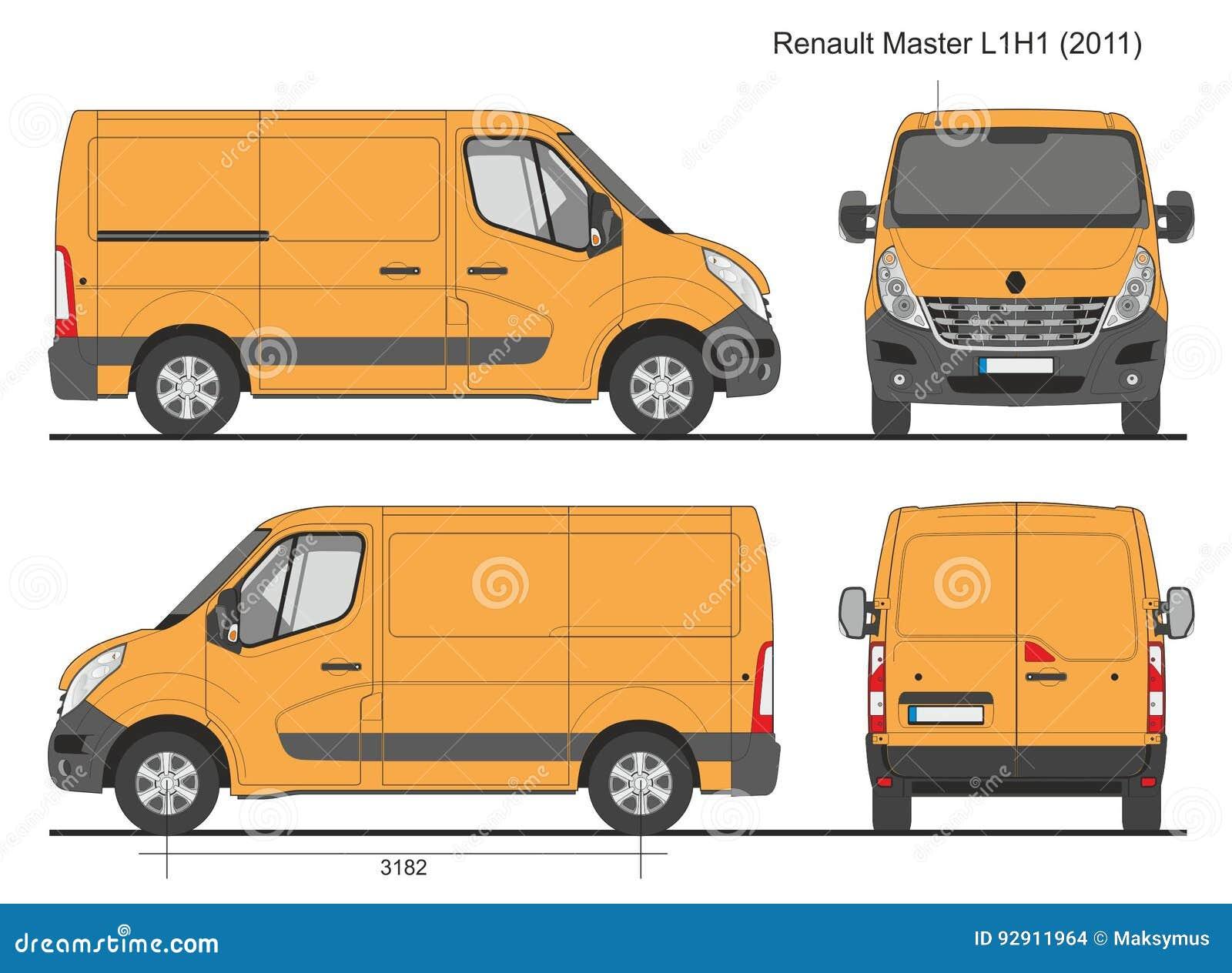 renault master van l1h1 2011 image stock ditorial. Black Bedroom Furniture Sets. Home Design Ideas
