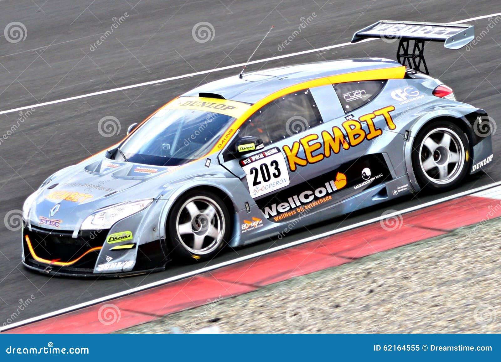 Renault Megane Racecar On TT Circuit Assen, Drenthe, Holland