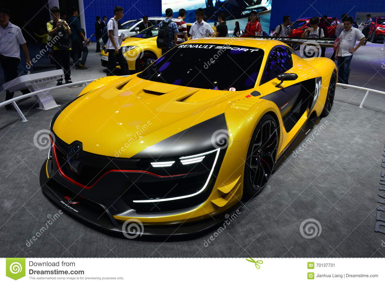 Renault r s voiture de course 01 photo ditorial image du salon type 70137731 - Voiture de course image ...
