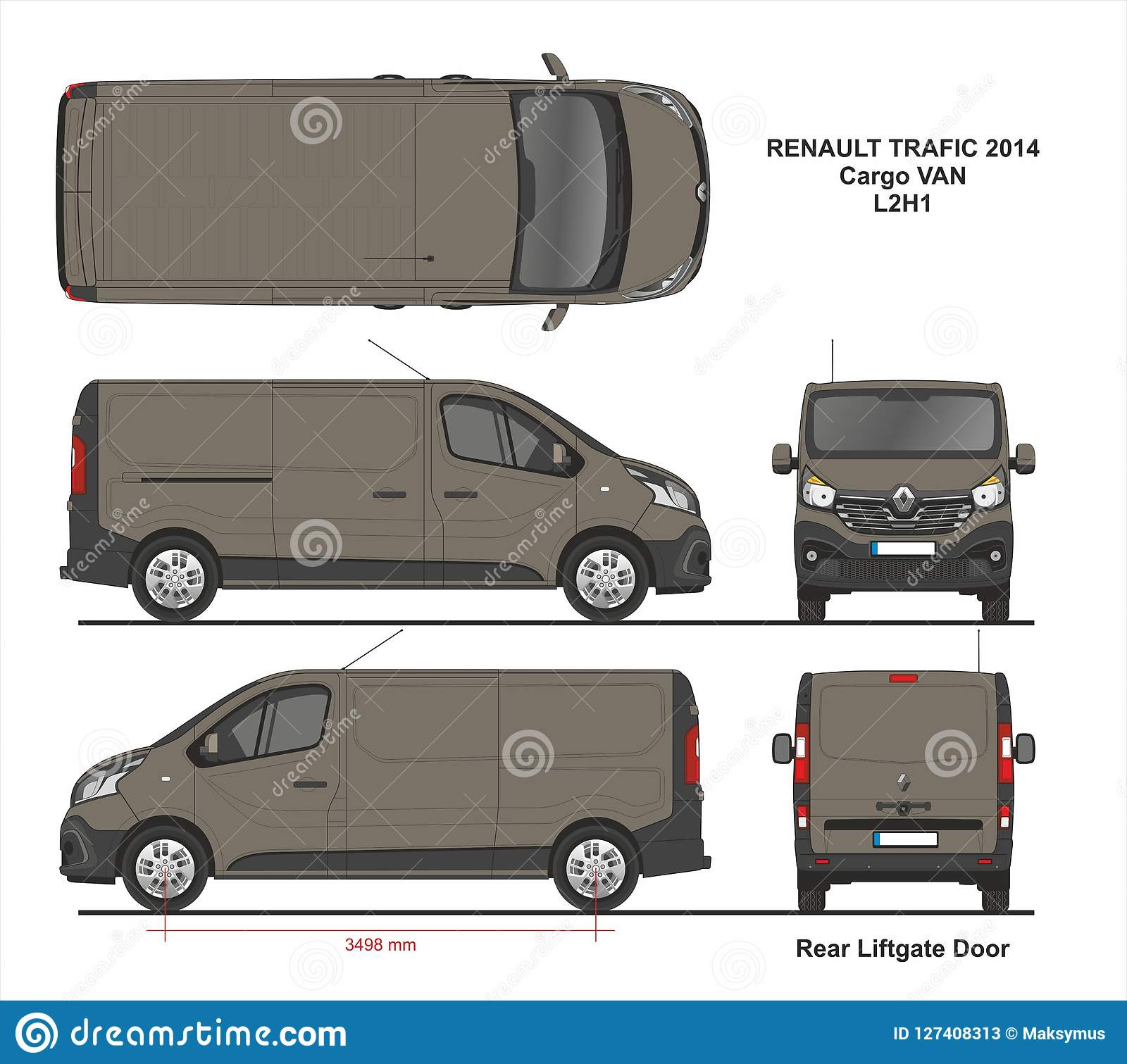 Renault Trafic Van Gvw: Renault Trafic Cargo Delivery Van L2H1 2014 Photo Stock