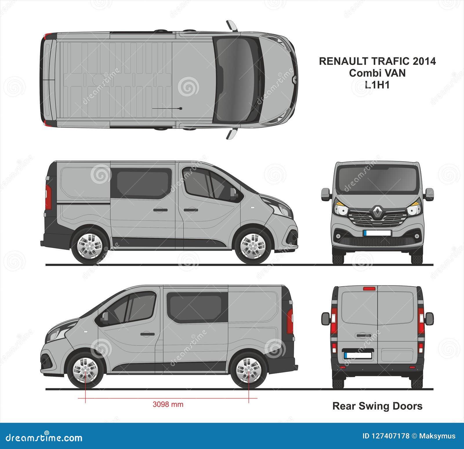 Renault Trafic Combi Delivery Van L1H1 2014 Photo Stock