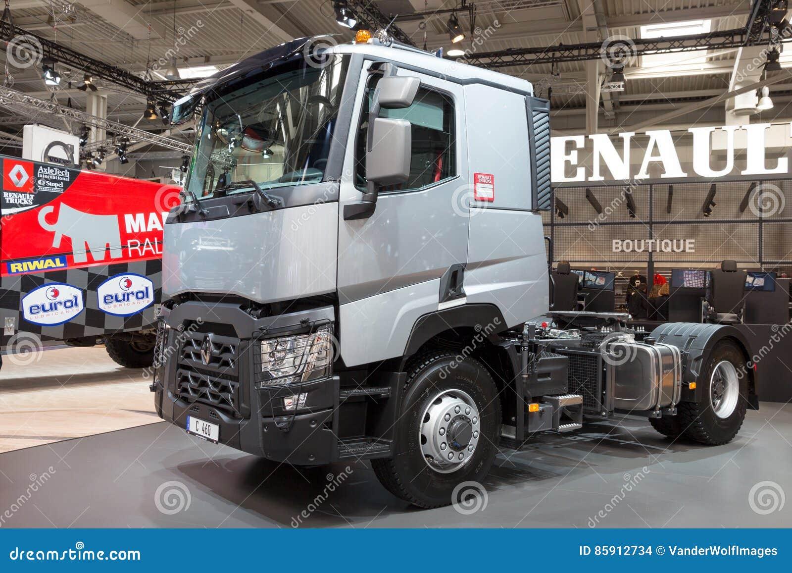Renault trucks c460 optitrack 4x2 truck editorial stock for Commercial motor used trucks