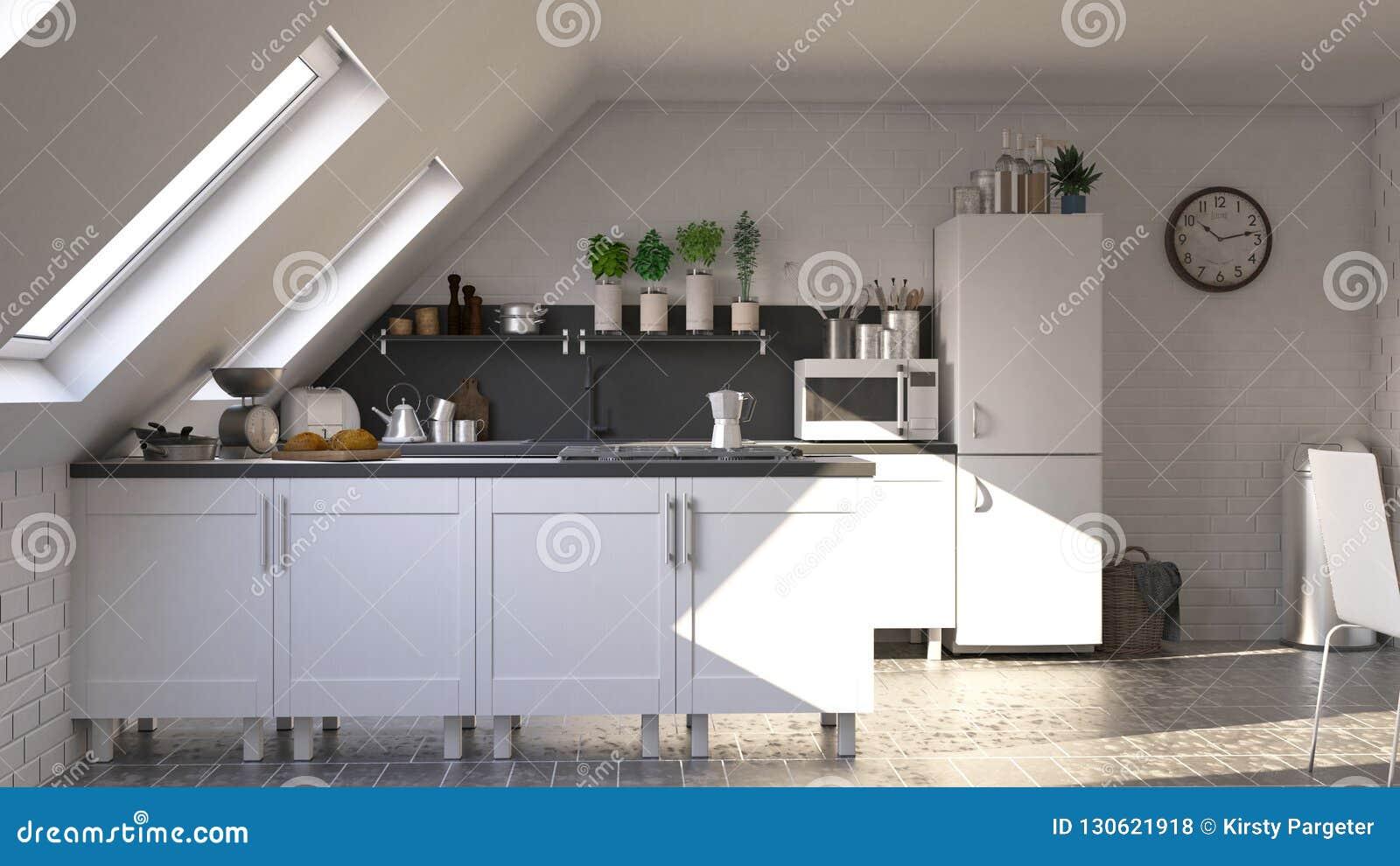 Renda della cucina del contemporaneo 3D