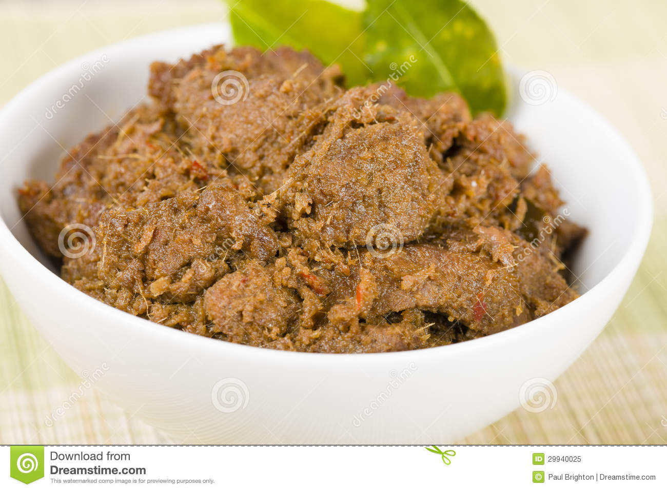 Beef Coconut Curry Indonesia