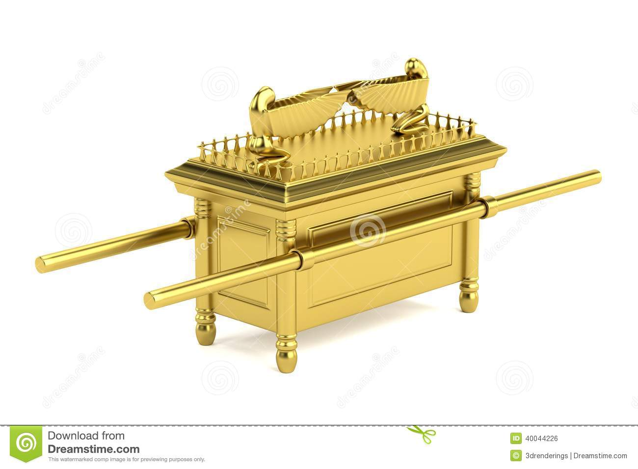Coloring picture of the ark of covenant - Render Of Ark Of The Covenant Royalty Free Stock Image