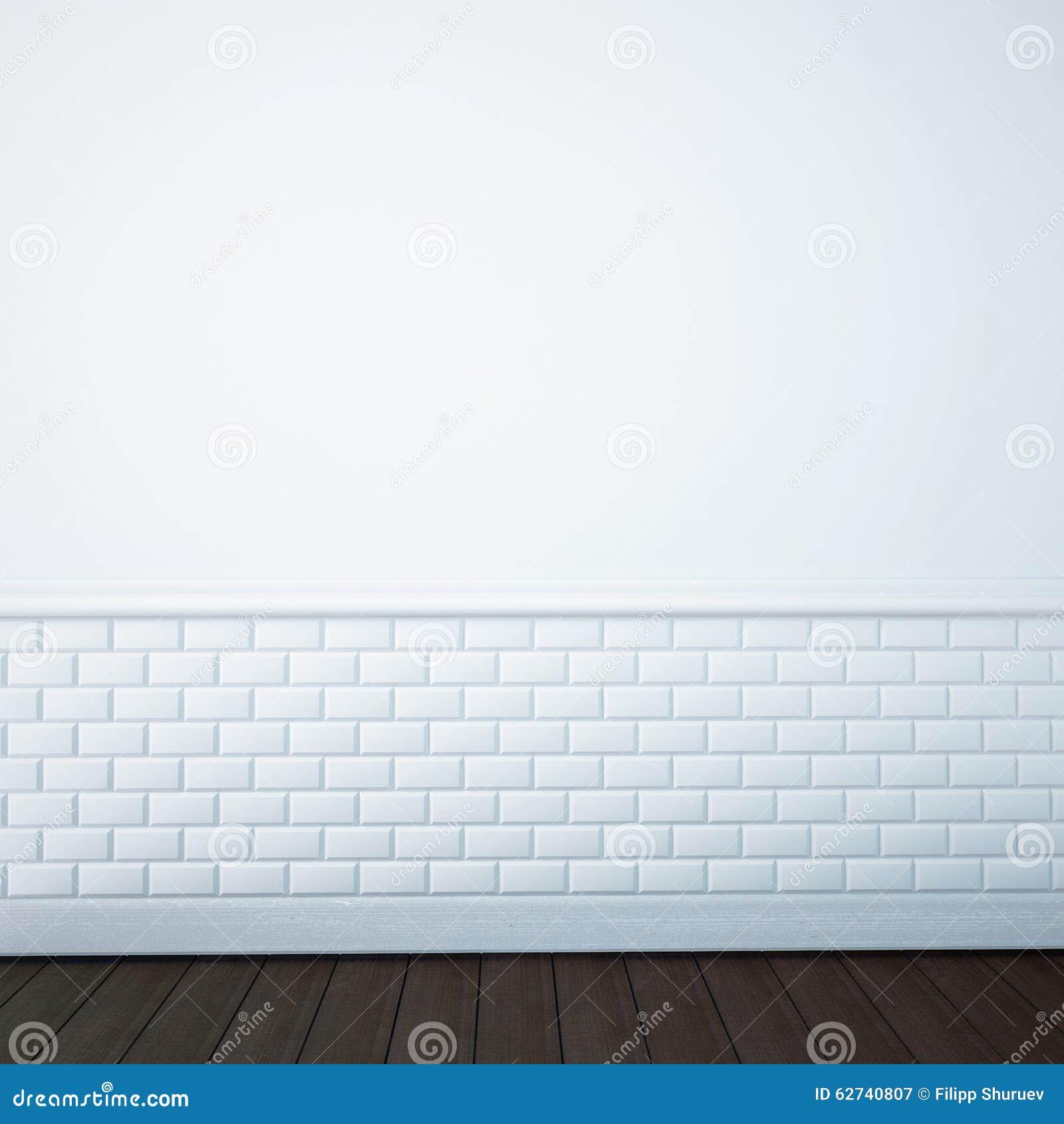 Classic bathroom tile - Render Of An Empty Bathroom Wall 3d Stock Illustration