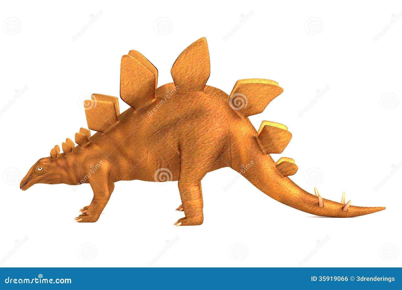 Render of stegosaurus