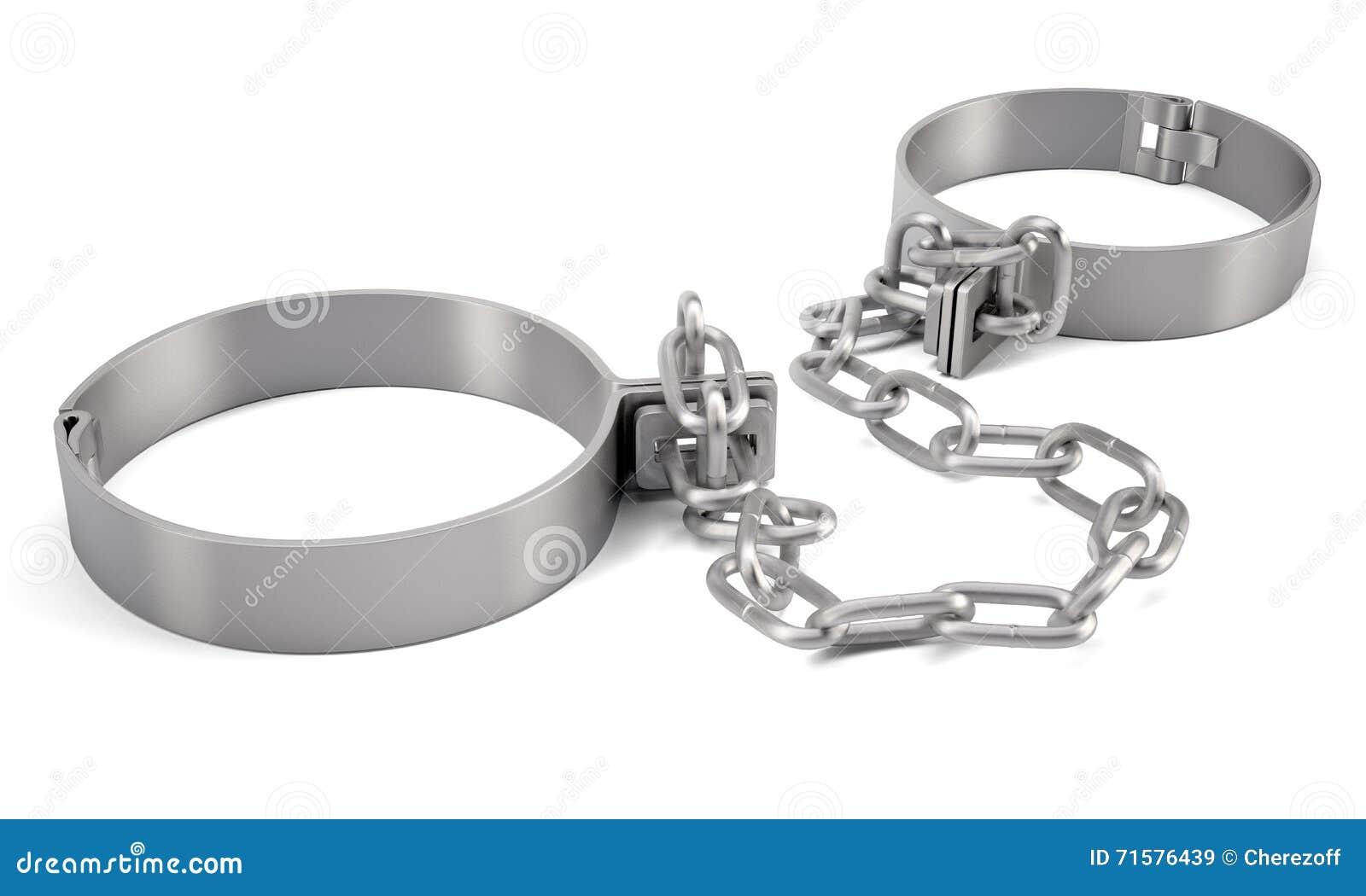 Rendered handcuffs. 3d rendering