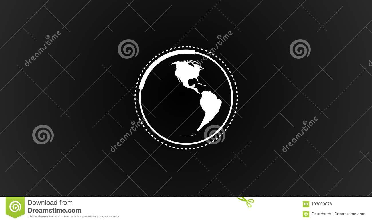 Rendered Illustration Of Planet Earth Globe Rotating With ...