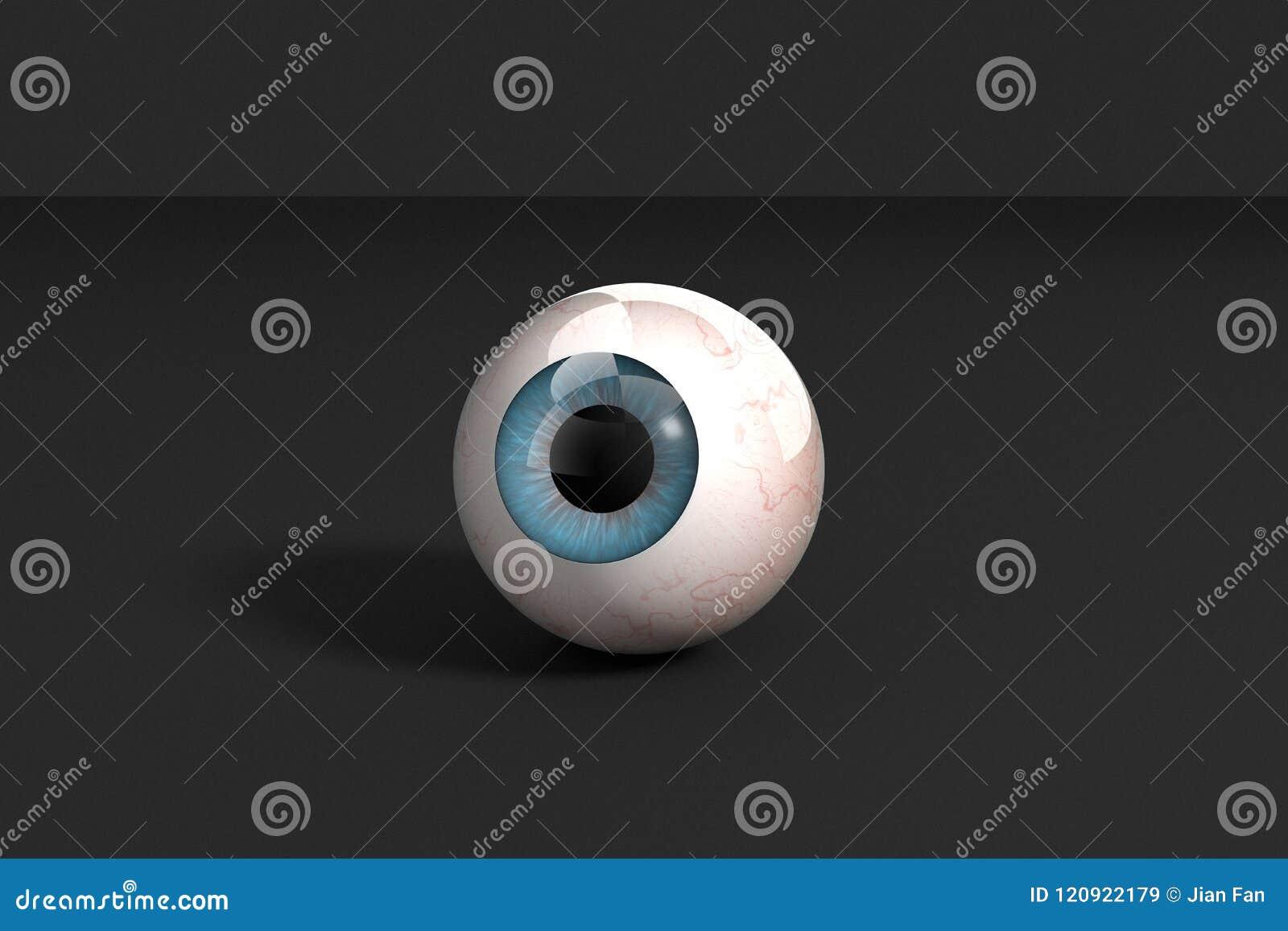 3d Rendering Realistic Human Eye Model Stock Illustration