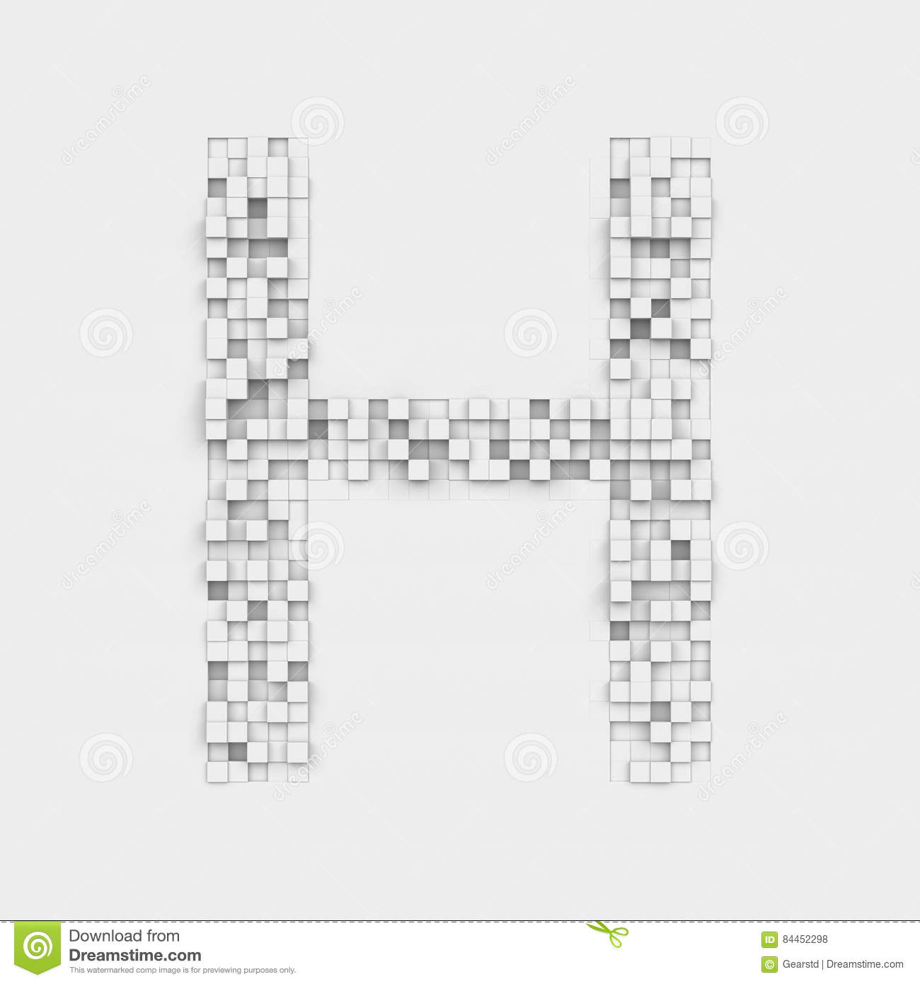 Rendering large letter h made up of white square uneven tiles stock download rendering large letter h made up of white square uneven tiles stock illustration illustration thecheapjerseys Choice Image
