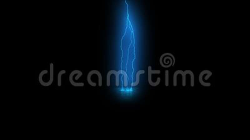 Rendering Of Lightning Strikes On Black Background Animated Computer Graphics Stock Footage