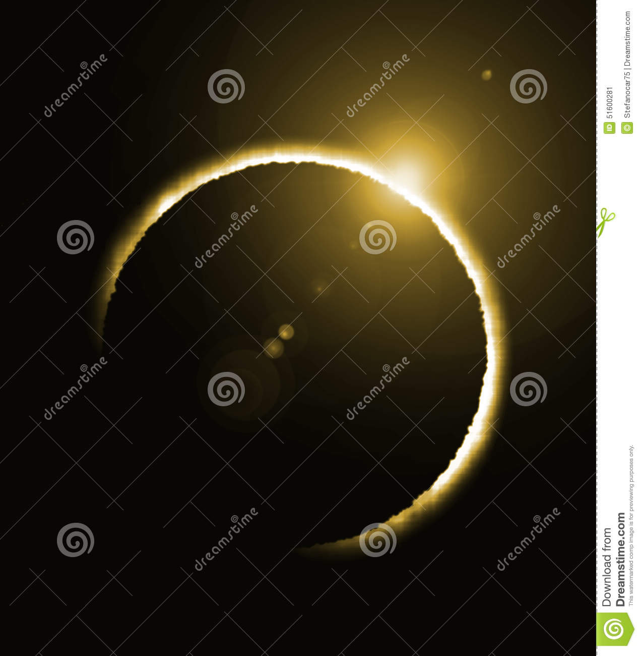 Rendering of a solar eclipse and a big flare