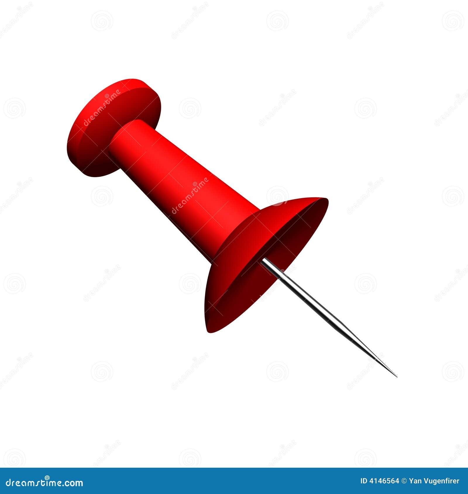 rendez d 39 une grande punaise rouge de bureau illustration stock image 4146564. Black Bedroom Furniture Sets. Home Design Ideas