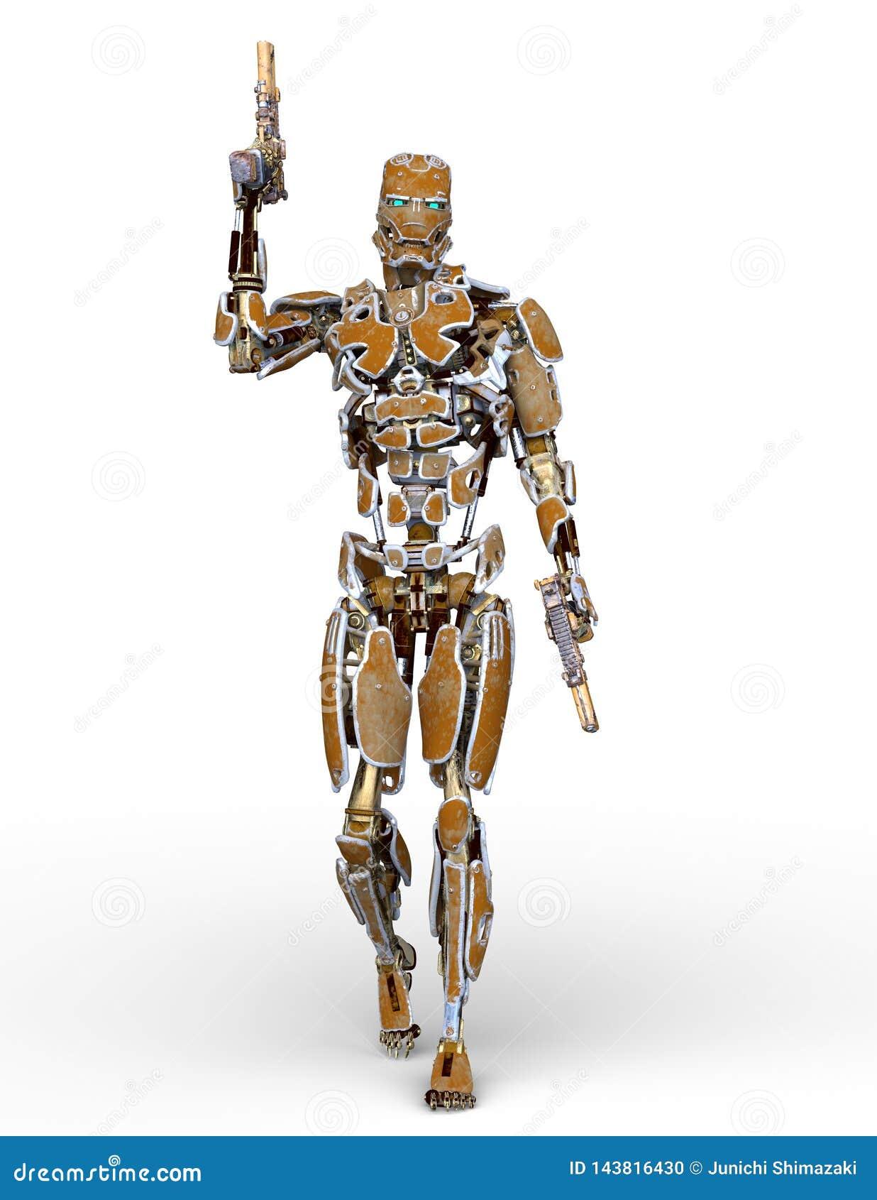 Rendição de 3D CG do robô
