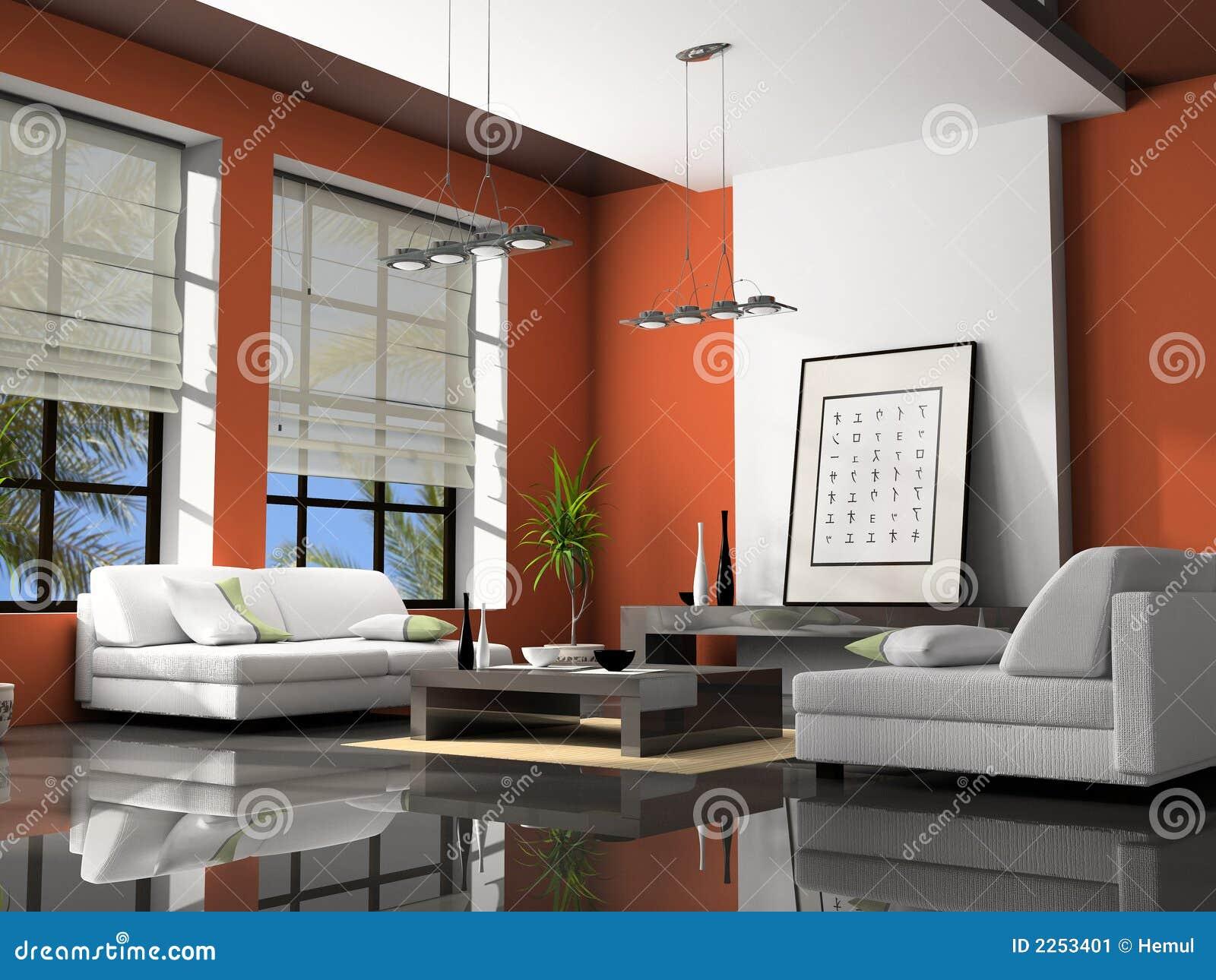 Rendição Home do interior 3D