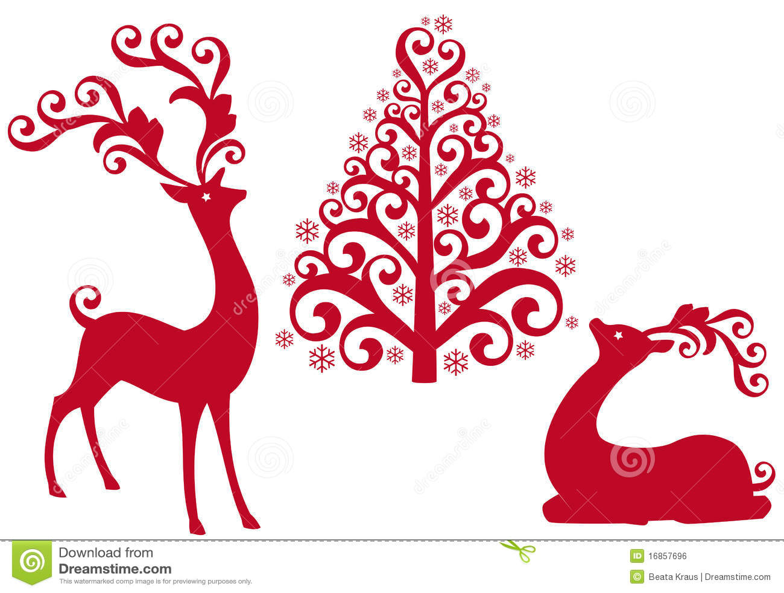 Rendier met Kerstmisboom,