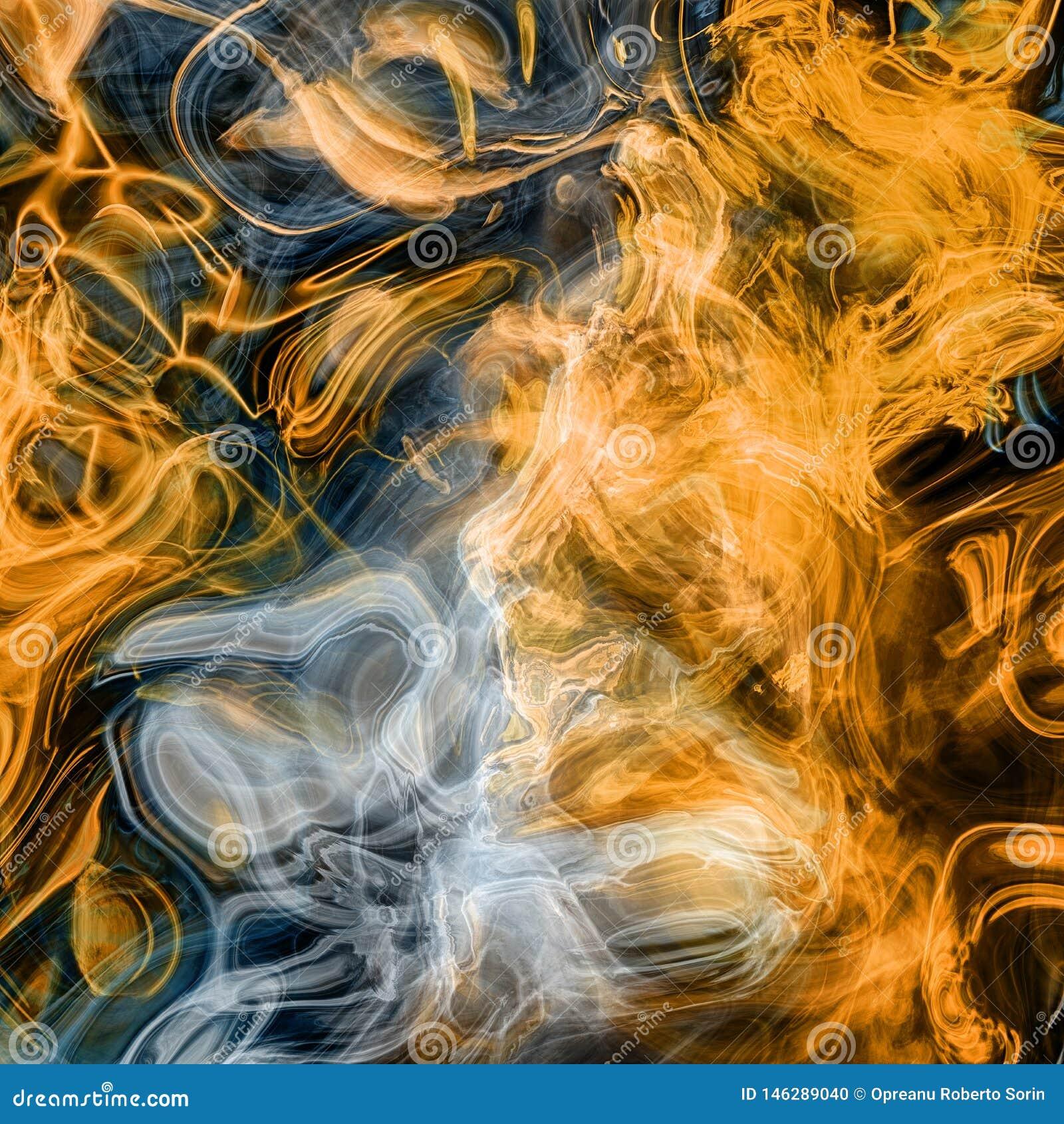 Rendiring detalhado do fractal da chama para a arte, a ilustra??o e o projeto