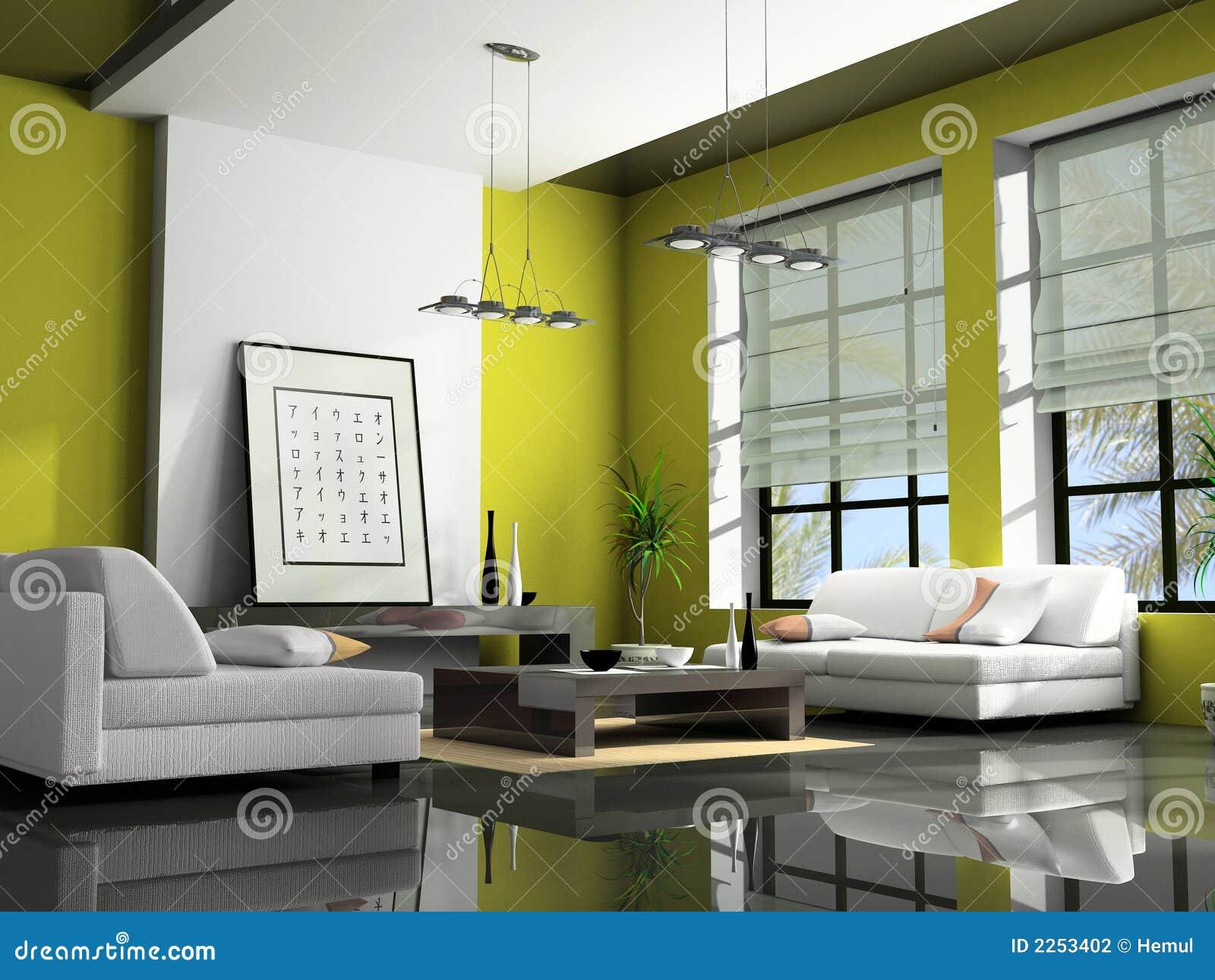 Rendu la maison de l 39 int rieur 3d photographie stock for L interieur de la maison