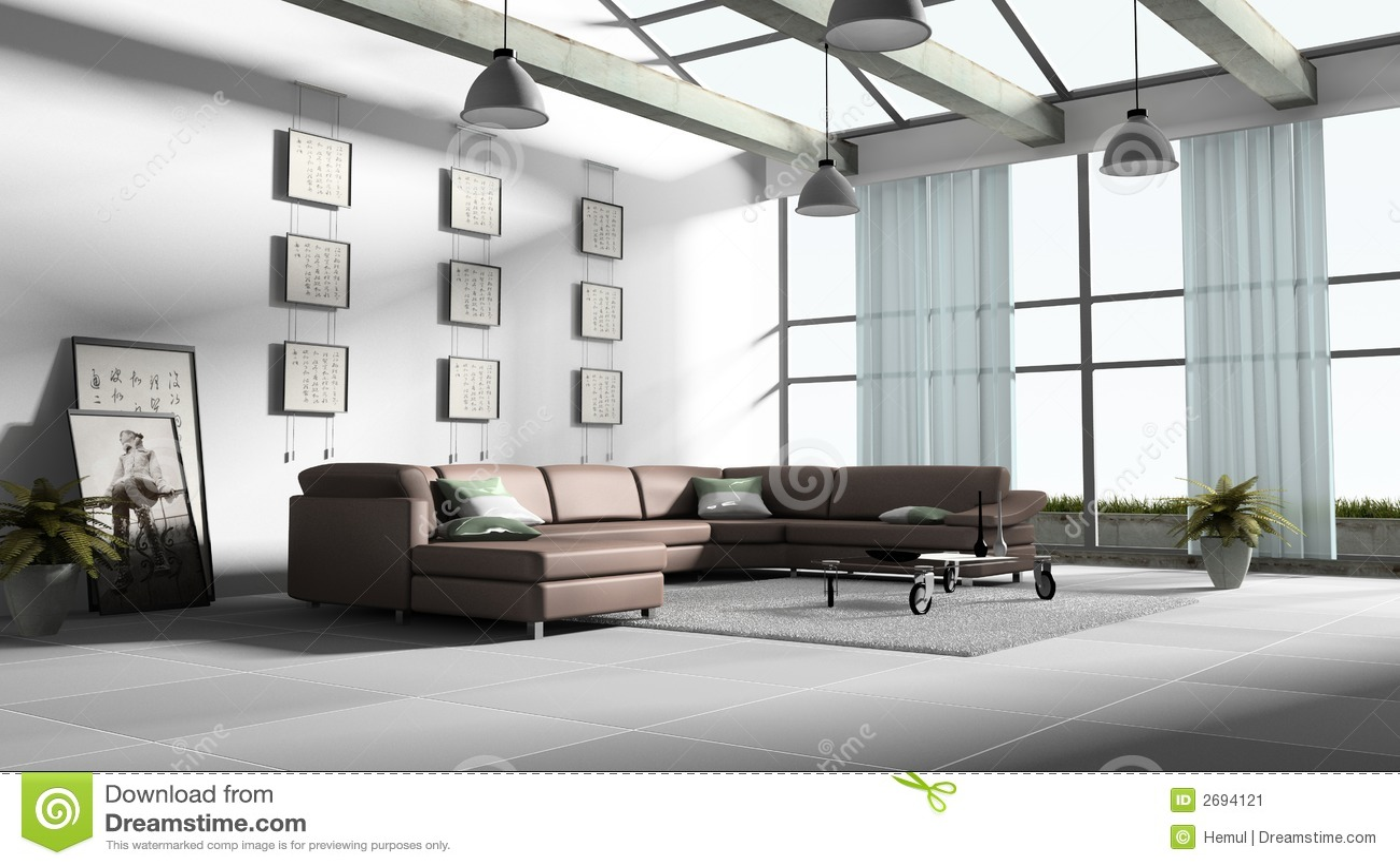 Rendu la maison de l 39 int rieur 3d image stock image for L interieur de la maison
