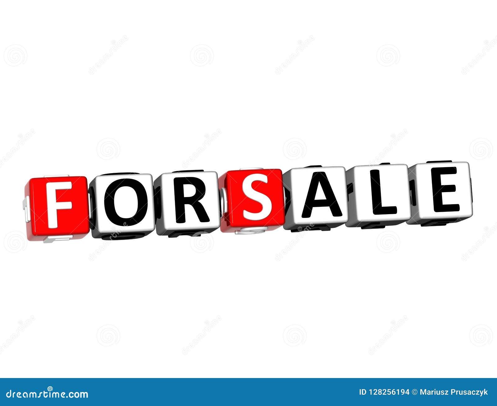 Rendu 3D à vendre Word au-dessus du fond blanc