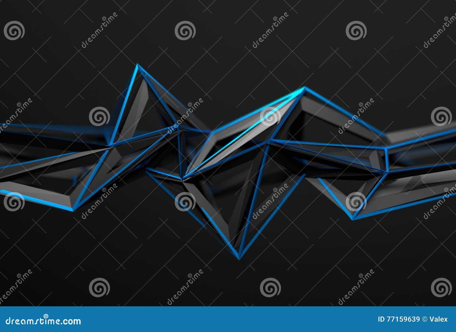 Rendu 3D abstrait de forme polygonale