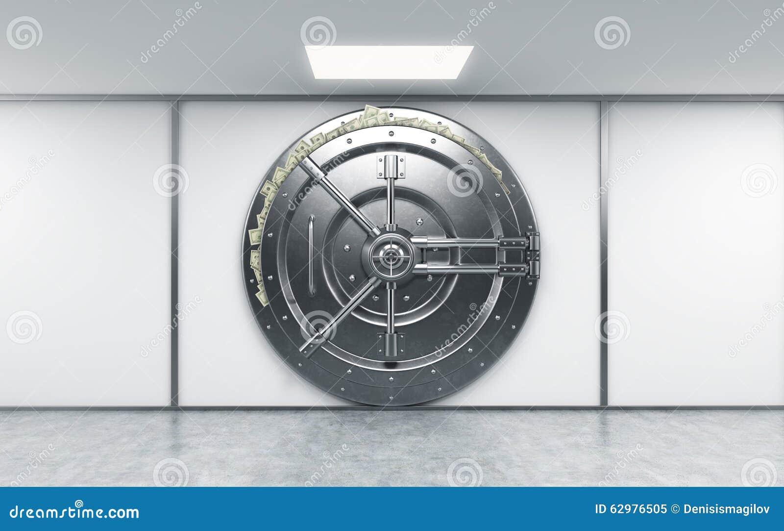 Rendu 3d d 39 un grand coffre fort rond verrouill en m tal dans un deposito - Location d un coffre a la banque ...