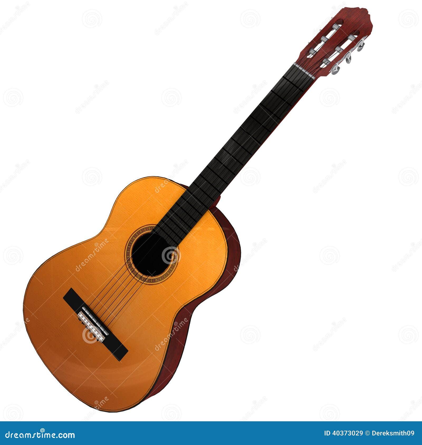 Rendu 3d d une guitare acoustique