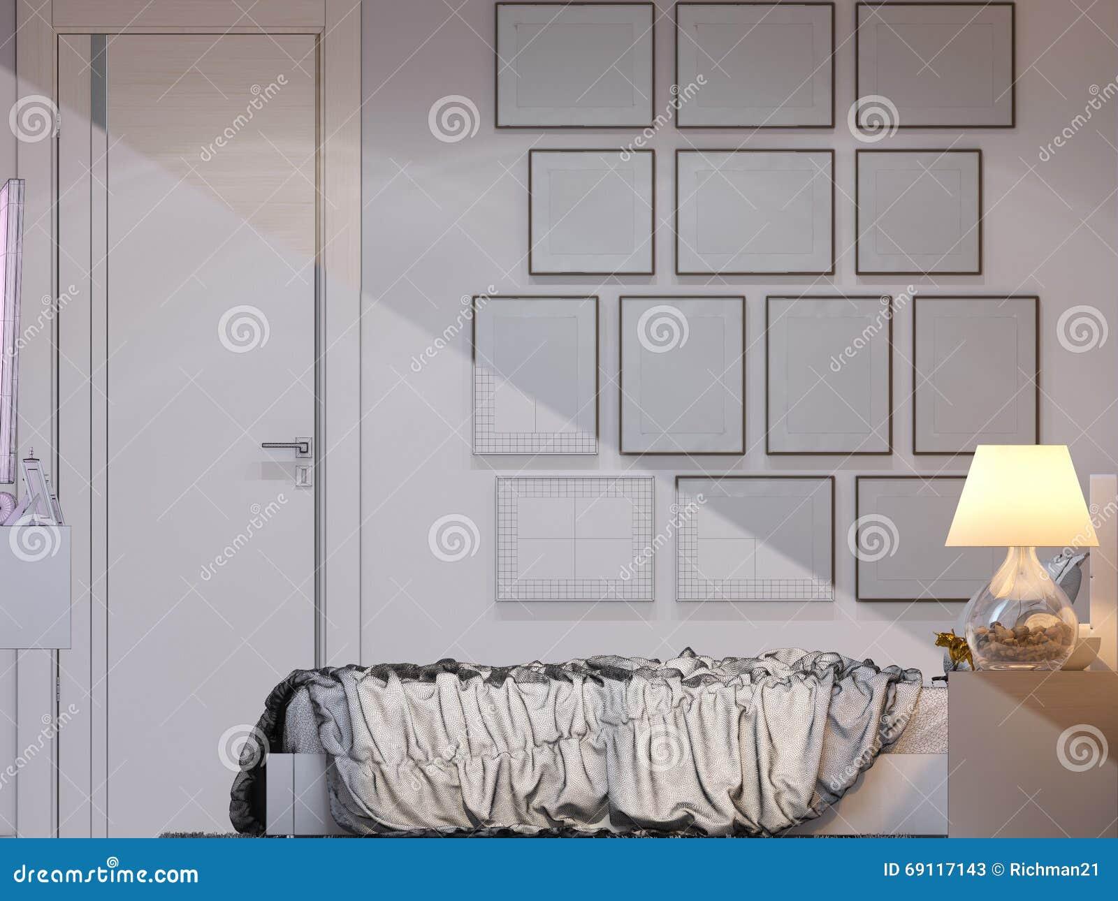 Rendu 3d de conception int rieure de chambre coucher for Conception chambre 3d