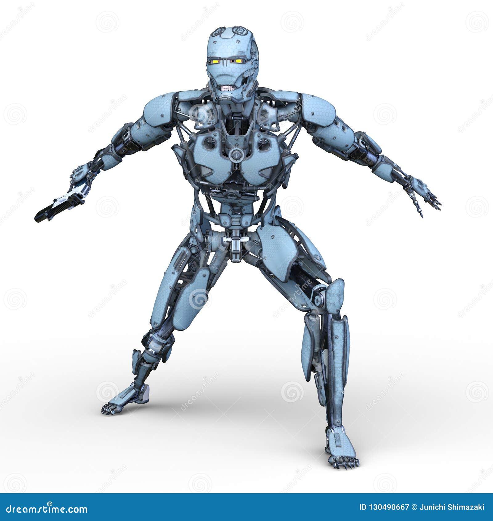 Rendu de 3D CG. de robot