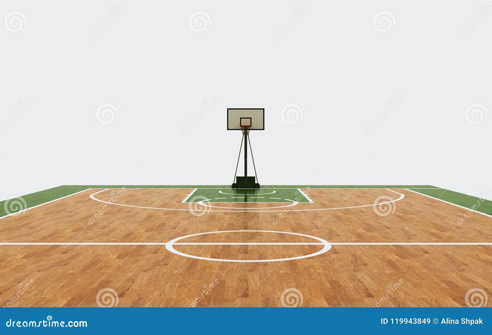 Rendu de fond d arène de basket-ball