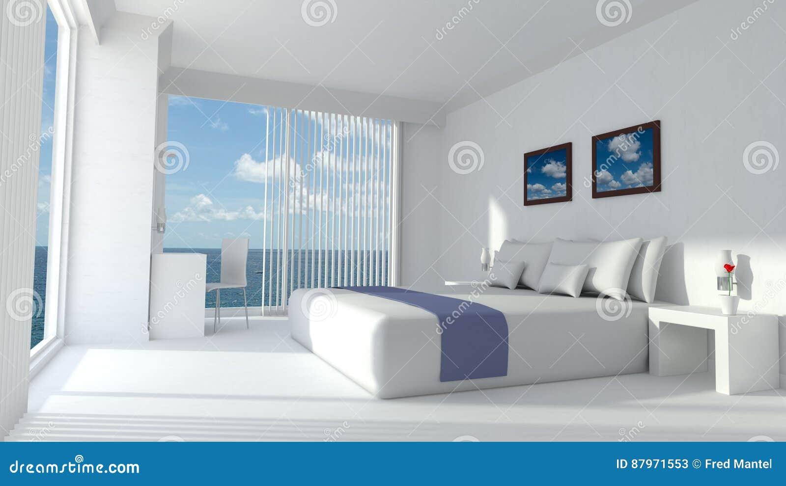 Rendu De Luxe Moderne De La Chambre D\'hôtel 3D Illustration Stock ...
