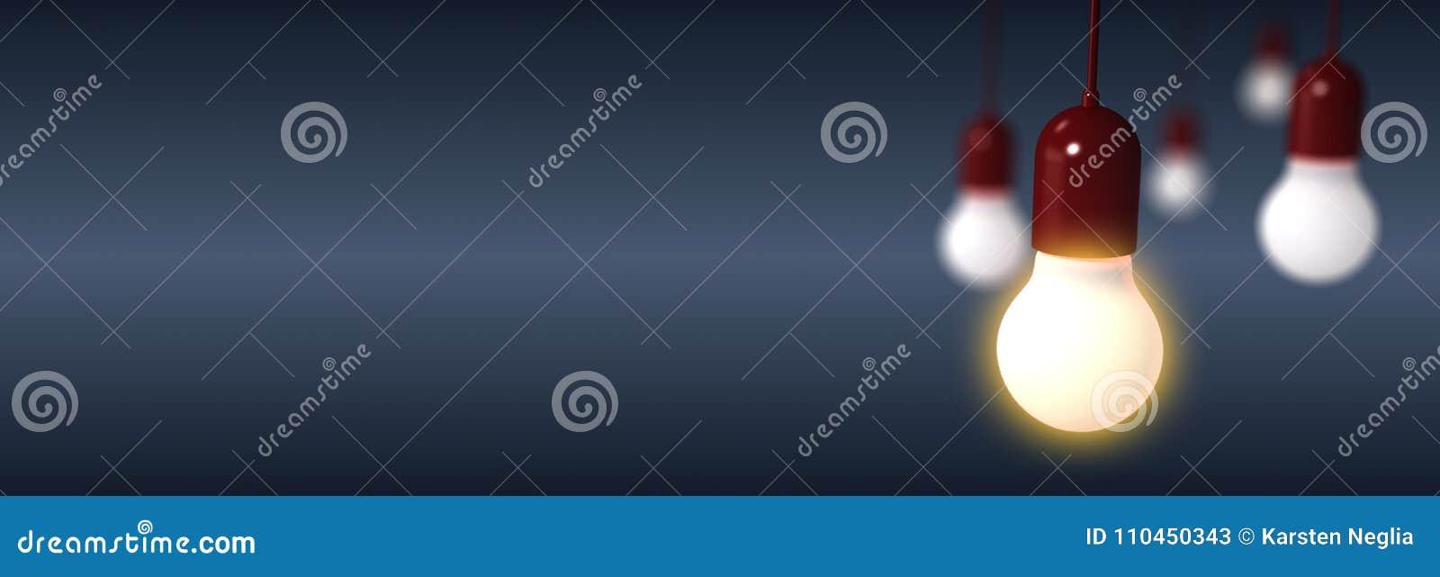 Rendu des ampoules sur le fond bleu