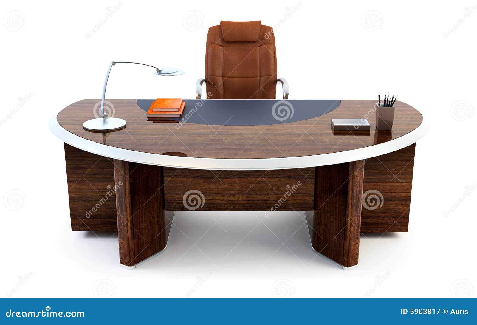 rendu du bureau 3d du directeur photographie stock libre de droits image 5903817. Black Bedroom Furniture Sets. Home Design Ideas
