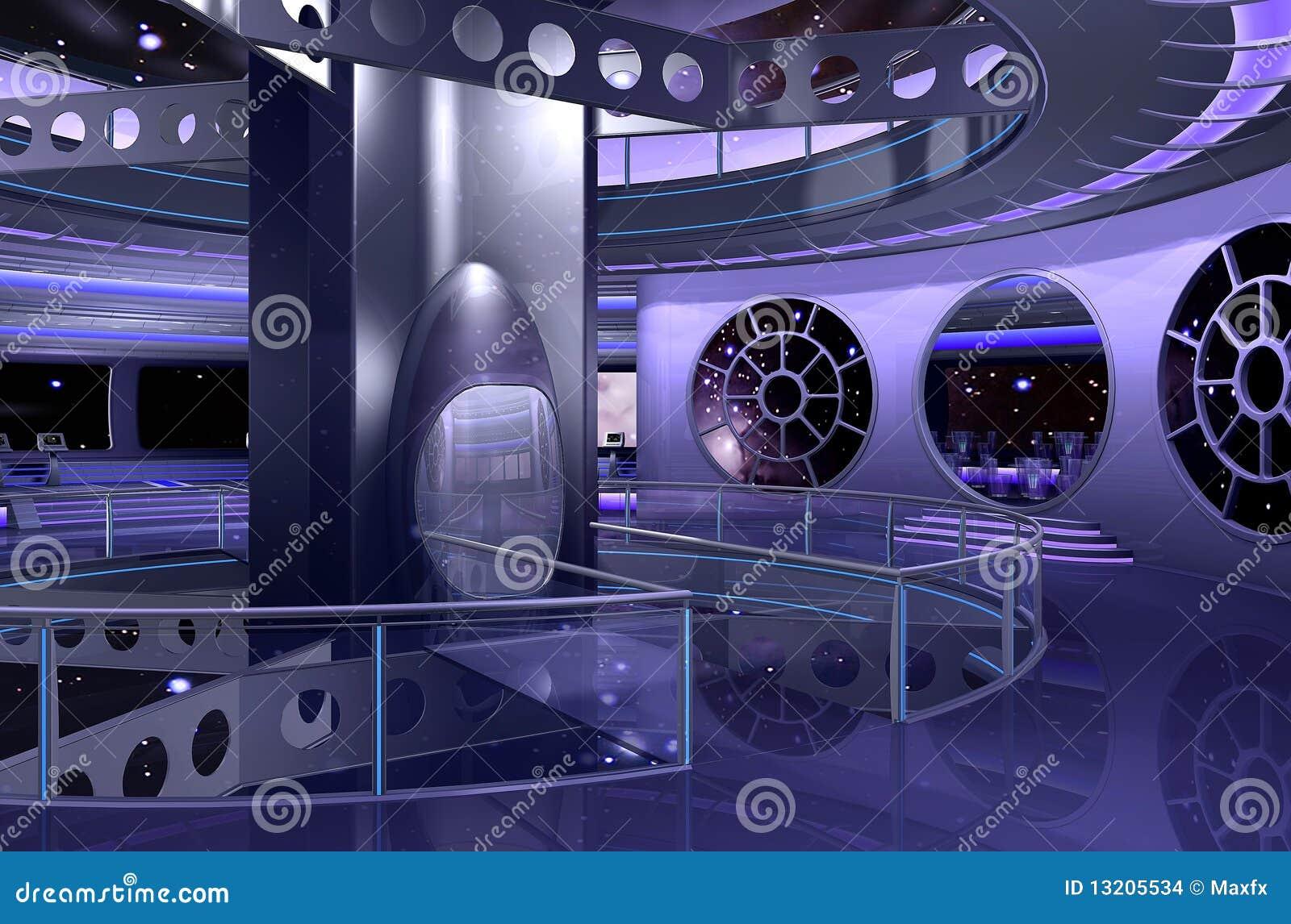 Rendu int rieur du vaisseau spatial 3d images stock for Interieur vaisseau spatial
