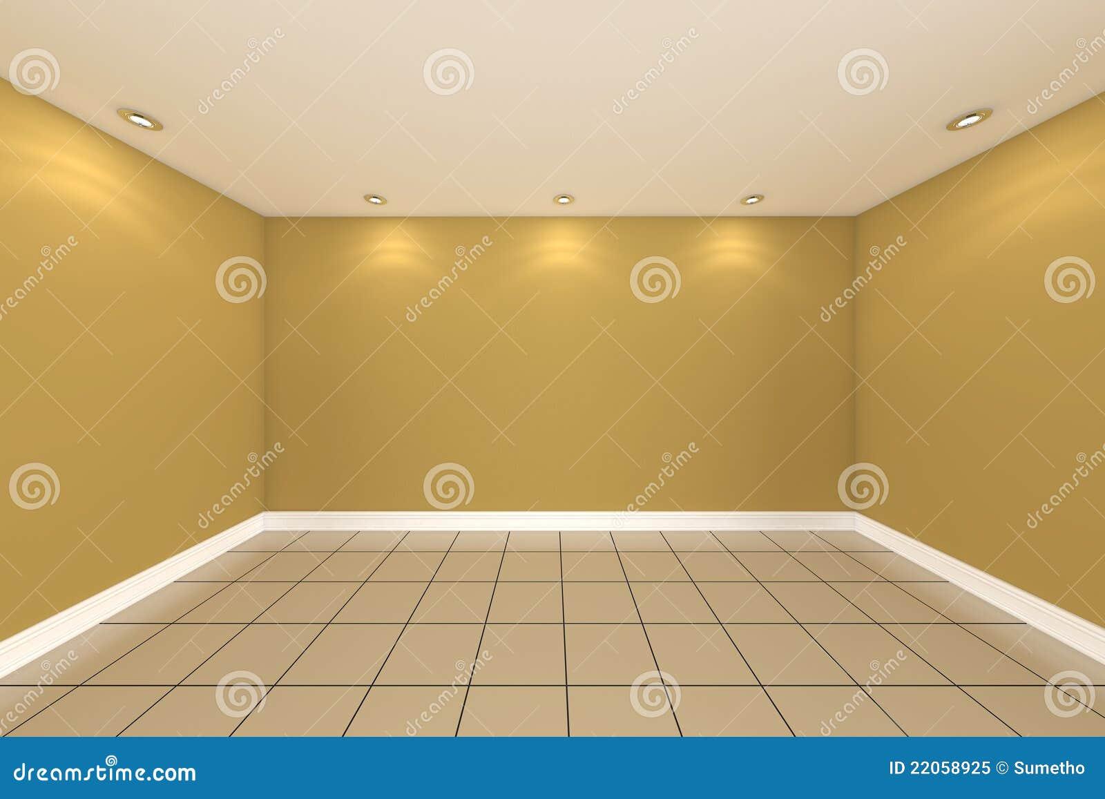 Rendu int rieur la maison avec le mur vide de couleur de - Couleur interieur de maison ...