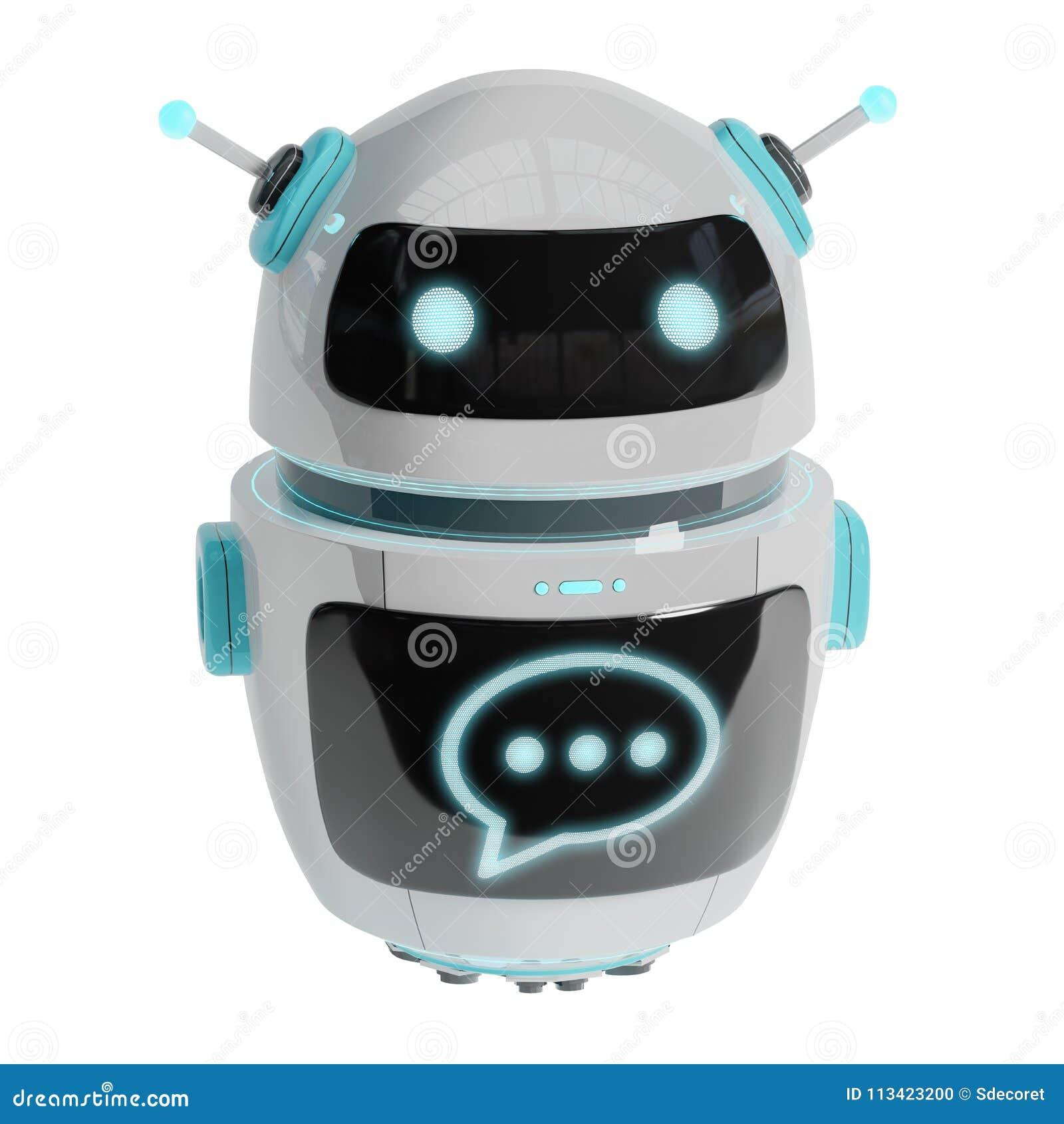 Rendu numérique futuriste du chatbot 3D