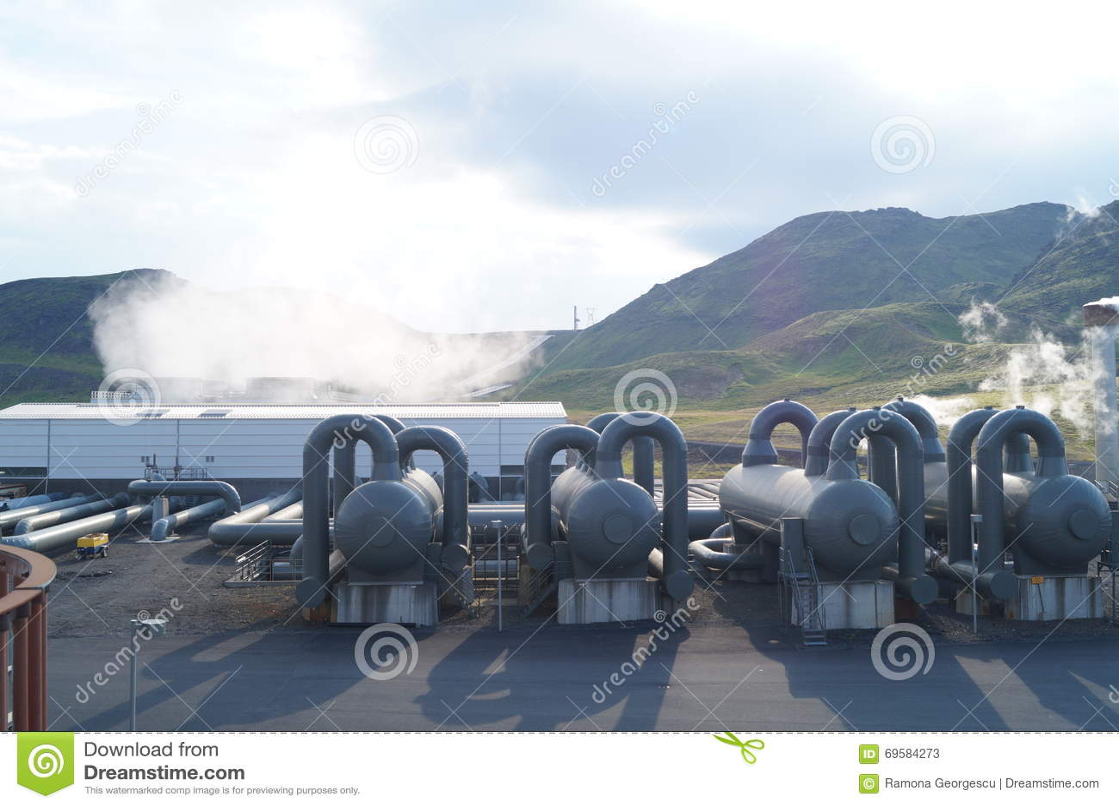 Download Renewable energy cycle stock image. Image of fumarole - 69584273
