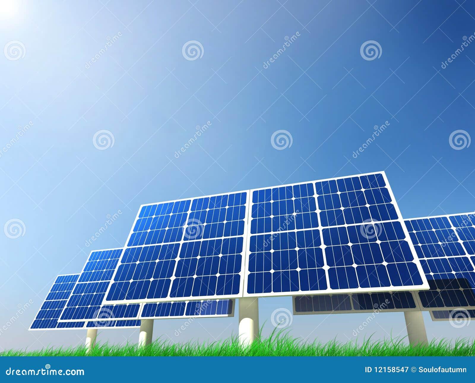 Renewable Energy - Solar Panels Royalty Free Stock Photography - Image ...