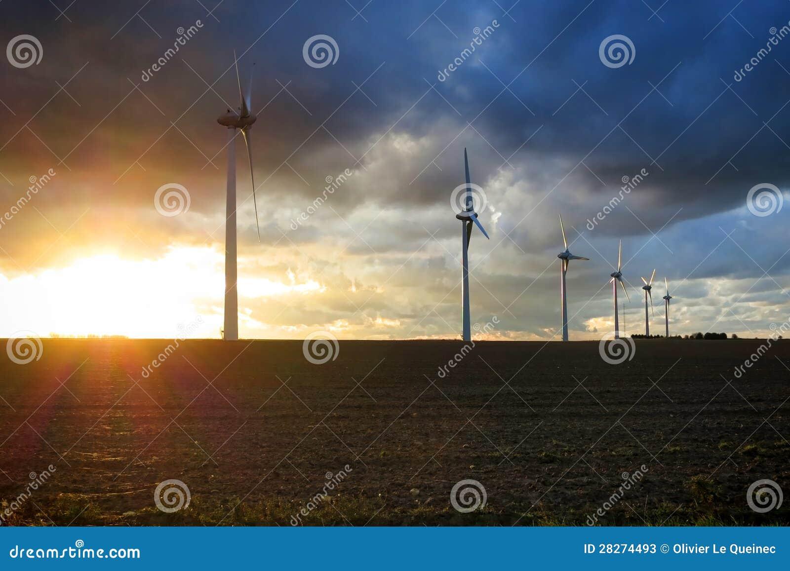 Renewable Energy Wind Power Windmill Turbines