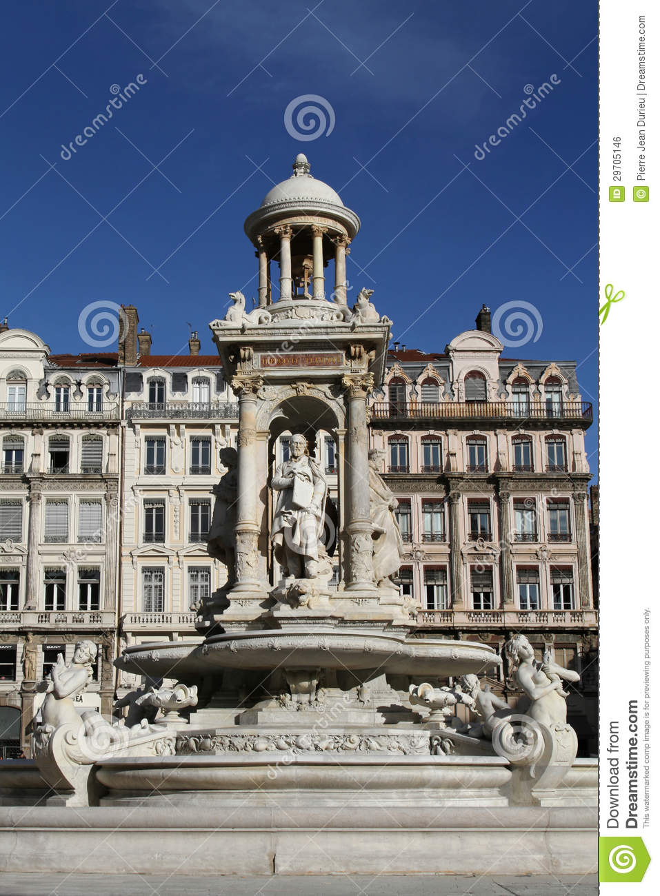 Fountain in place des jacobins royalty free stock image - Place des jacobins lyon ...