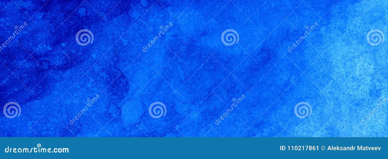 Rengöringsdukbanerflotta eller marinblå bakgrund för vattenfärglutningpåfyllning Akvarellfläckar Abstrakt begrepp målad mall med
