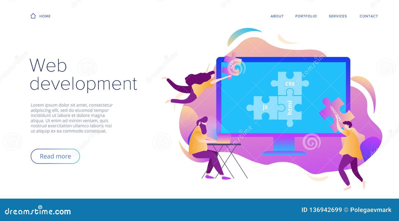 Rengöringsdukutvecklingsbegrepp i plan design Bärare eller formgivare som arbetar på internetappen eller online-tjänst Idérik vek