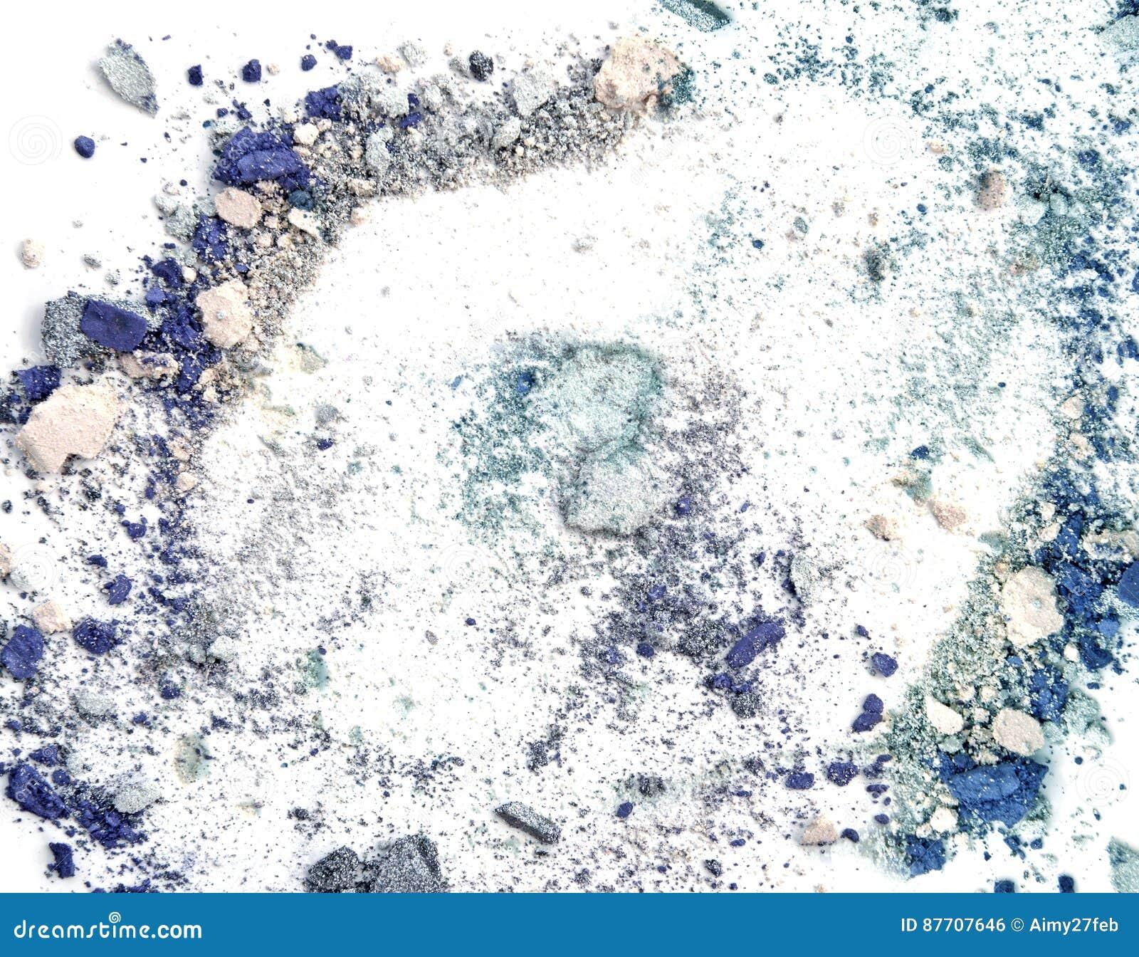 Renivellement écrasé sur le fond blanc Les fards à paupières