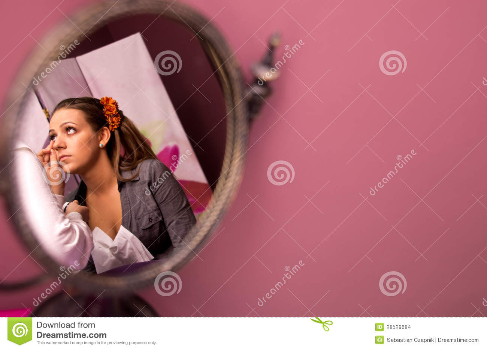 Renivellement de jeune mariée