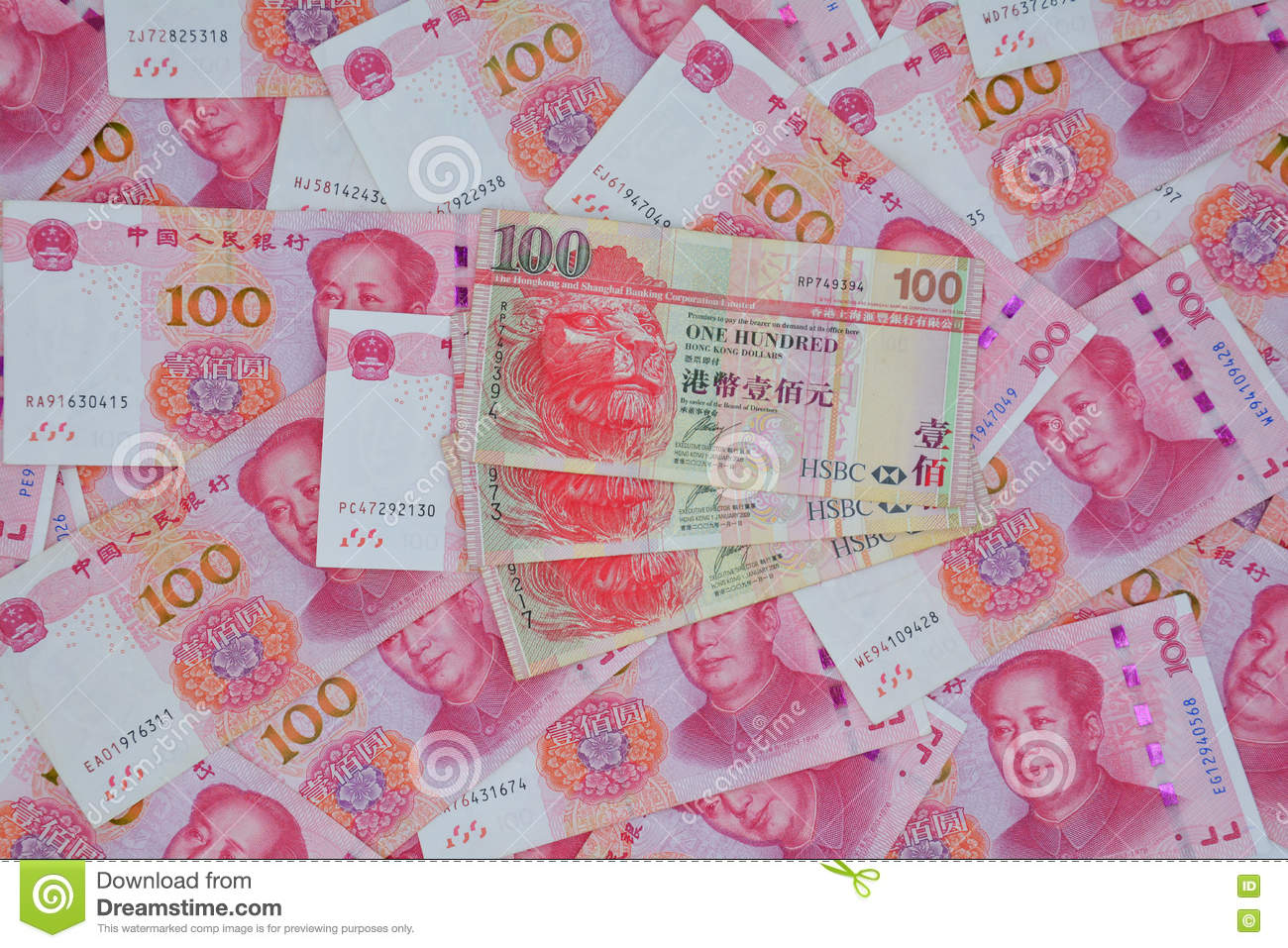 Renminbi and hong kong dollar stock photo image of clearing other royalty free stock photo buycottarizona Gallery