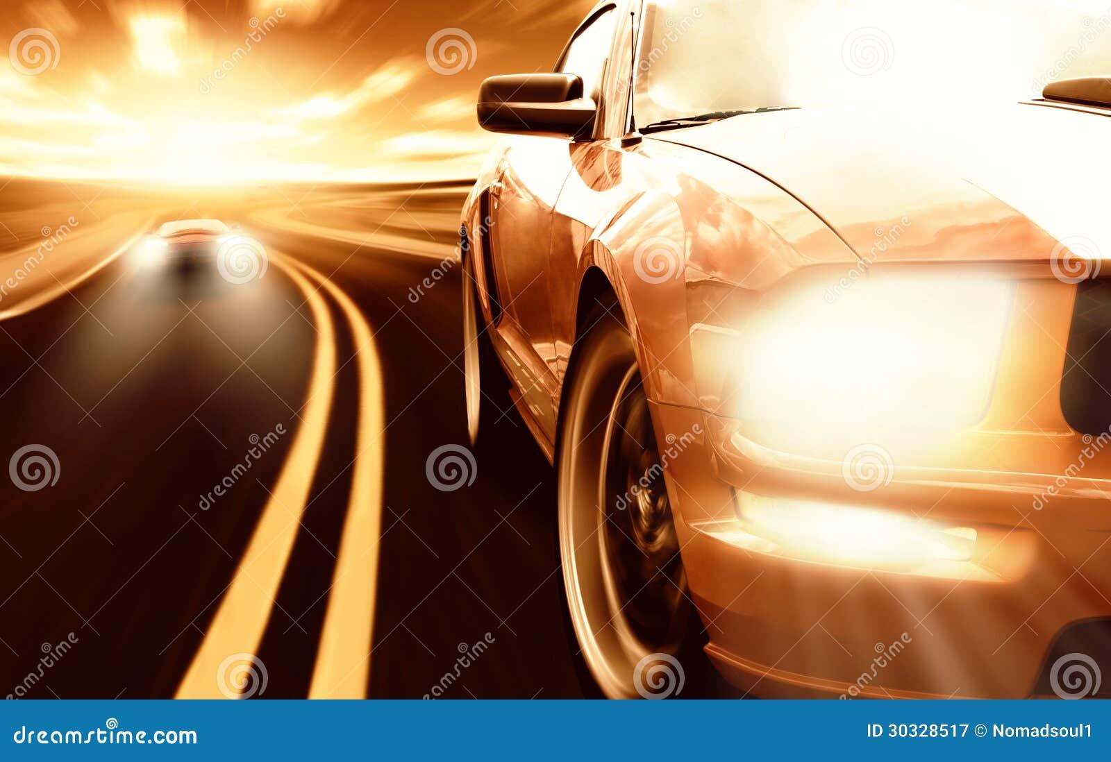 Rennende sportwagens