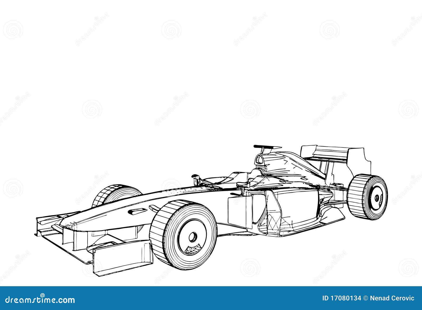 Rennwagen Vektor 02 Stockbilder