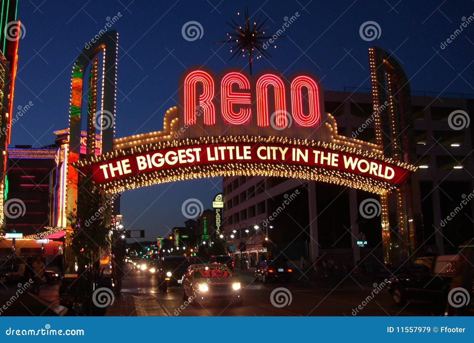 Reno Arch at Night